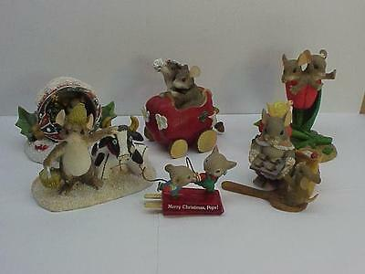 Lot Of 6 Mouse Mice Figurines Silvestri Charming Tails Fitz Floyd Enesco