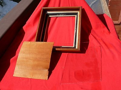Victorian Walnut PICTURE FRAME 4 Tiers Gilded Gesso East Lake Wood Back +Glass
