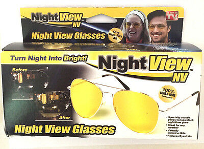 Night View Glasses - Turn Night Into Bright - 1 Size Fits All- As Seen On Tv