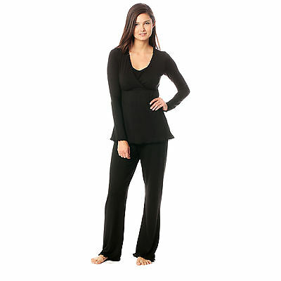 The Margo PJ by Majamas for Mamas / Maternity Nursing Pajamas *NEW* Black Medium