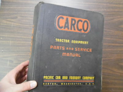 c.1954 CARCO Tractor Equipment Master Service Manual Binder Pacific Car Foundry