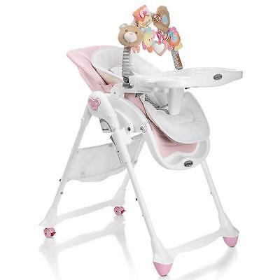 BREVI Chaise Haute B-FUN  MULTIFONCTIONS rose