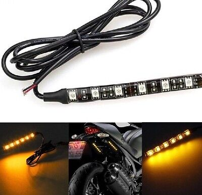 LED Indicators Motorcycle Mini Flexible Weather Proof   Universal Aus Seller X2