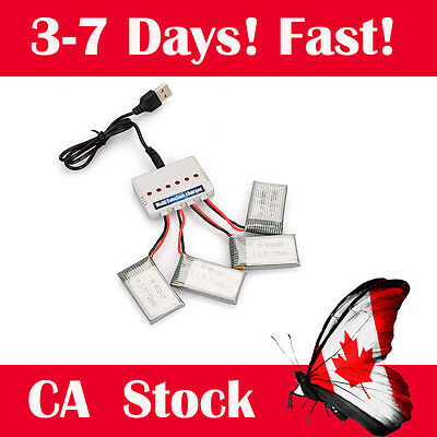 MultiFunction 6 in 1 Charge+4 X5SW Battery For  Syma X5SW MJX X400 Drone CA SHIP