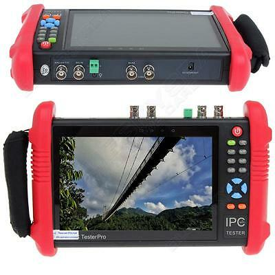 "IPC9800ADHS 7"" Touch Screen TVI CVI AHD SDI CVBS IP Camera Monitor CCTV Tester"
