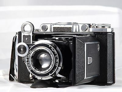 ZEISS IKON SUPER IKONTA 531/2 6X9 TESSAR 105mm FOLDING 120 REVISADA GARANTIZADA