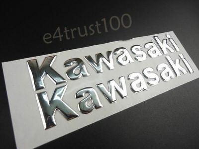 145mm Chrome Emblem Decal Badge For Kawasaki Motorcycle Gas Tank Fairing Sticker