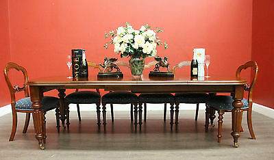 Antique English Mahogany 2 Leaf Extension Dining Table - winder and Crank c1860