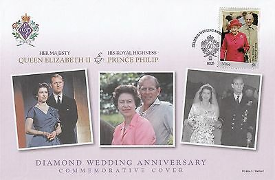 (95483) Niue FDC Queen Elizabeth II Diamond Wedding 2007