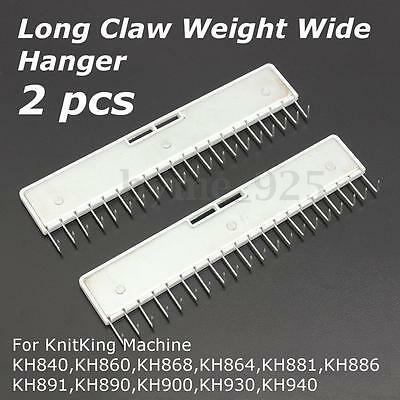 2Pcs Pin Type Long Claw Wide Weight Hanger for Brother KH840 KH860 KH868 KH864