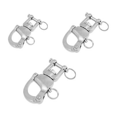 Quick Release Swivel Eye Snap Boat Shackle Stainless Steel Marine Yacht Sailing