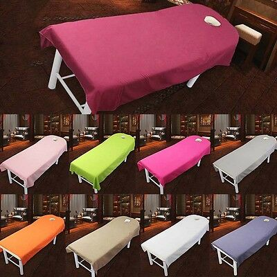 Beauty Salon Sheet SPA Massage Polyester Bed Cover Sheet With Face Breath Hole