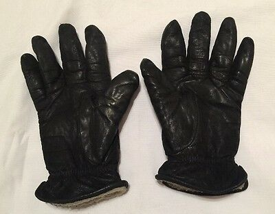 Isotoner Women's Black Genuine Leather Winter Gloves Medium