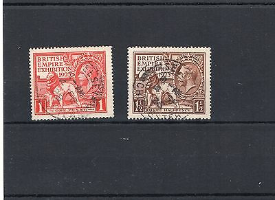 1925 WEMBLEY Stamps Set 2v Fine Used SG432-433 George V Ref:X371