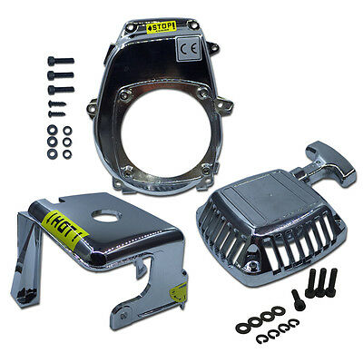 Engine Cover Kit Chrome Plated fit for 1/5 HPI BAJA 5B 5T 5SC