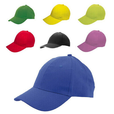 Showeproof Plain Adjustable Baseball Caps - Work Casual Sports Leisure 6 Panel