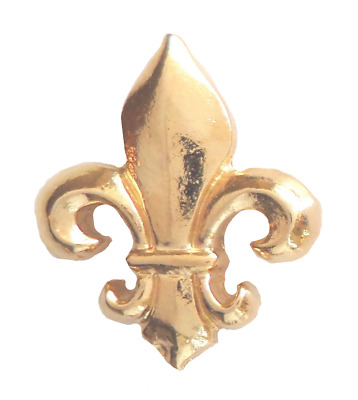 France French Royal Fleur-de-Lis Small Pin Badge in Gold Plated English Pewter