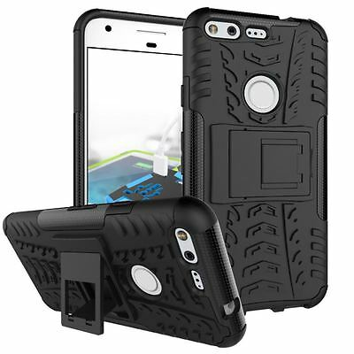 Google Pixel / Pixel XL [Tough Armour] Shock Proof Heavy Duty Case Cover Stand