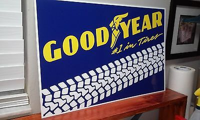 "GOOD YEAR Tires Sign  16"" x 24"""