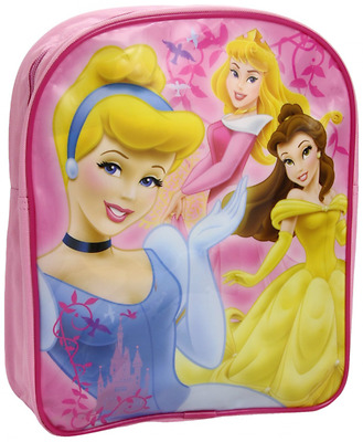 Disney Princess Happily Ever After Girls Pink Backpack Bag Belle Cinderella