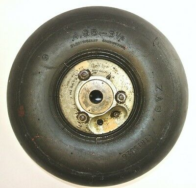 RAF Aircraft Avro Anson Tail Wheel and Tyre 4.95 X 3 1/2 Ideal Museum Static
