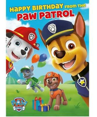 Paw Patrol With Sound Happy Birthday Card New Gift 549 Picclick Uk
