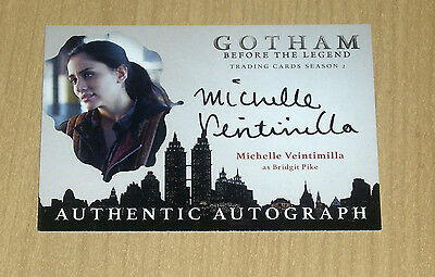 2017 Cryptozoic Gotham season 2 autograph Michelle Veintimilla as Bridgit Pike