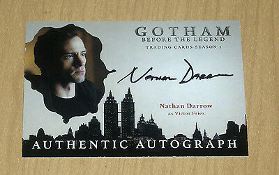 2017 Cryptozoic Gotham season 2 autograph card Nathan Darrow as VICTOR FRIES