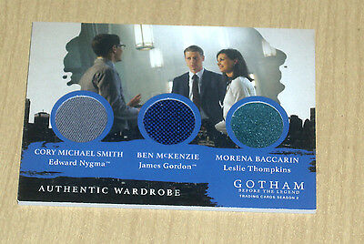 2017 Cryptozoic Gotham season 2 triple wardrobe Leslie/James Gordon/Nygma TM1