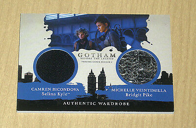 2017 Cryptozoic Gotham season 2 dual wardrobe Selina Kyle Bridgit Pike DM4
