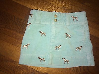 RALPH LAUREN Toddler Girls Size 2T Corduroy Skirt Embroidered Hunting Dogs EUC