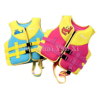 kids childs youth baby neoprene life jacket swim suit life vests buoyancy aid