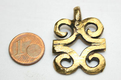 Messinganhänger adinkra rams of horns Gelbguß Messing