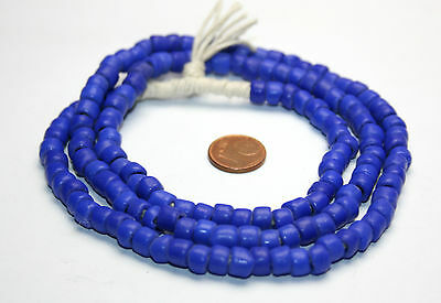 Strang Venedig Murano antike Glasperlen trade beads navy blue
