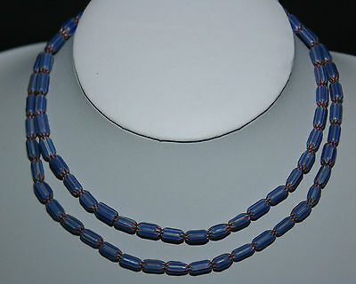 6 Layer Chevron trade bead blau