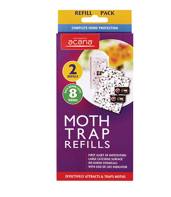 Pack of 2 Refills for the Acana Moth Monitoring Trap Station (lasts 8 weeks)