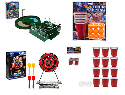 Drinking Games Mini Golf Beer Pong Darts Shots Alcohol Party Fun Pre Drink Adult