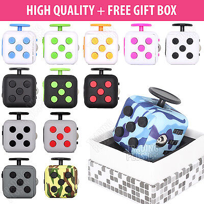 Fidget Cube Children Toy Vinyl Stress Anxiety Relief Adults Kids ADHD Fiddle