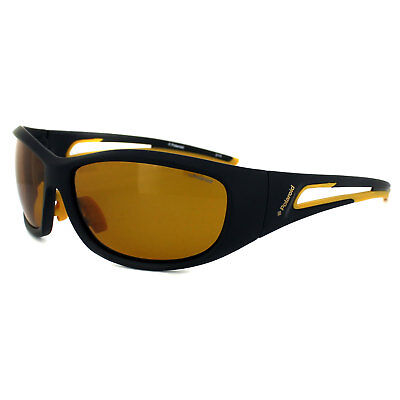 Polaroid Sport Sunglasses P7405 71C MU Black   Yellow Yellow Polarized 6413260cfa