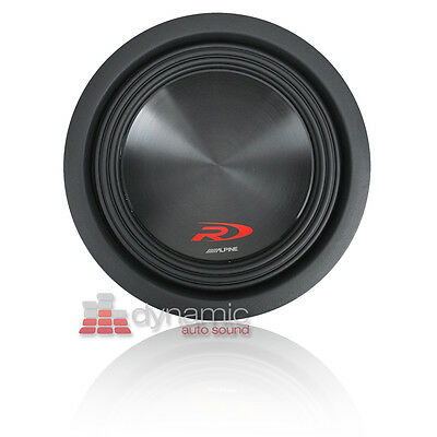"ALPINE SWR-8D4 Car 8"" Dual 4 ohm Type-R Audio Subwoofer 1,000 Watts Sub New"