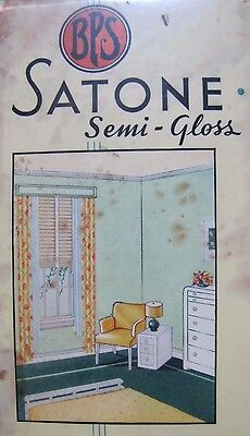 Old Patterson-Sargent Co BPS Best Paint Sold Satone Semi-Gloss Advertising Sign
