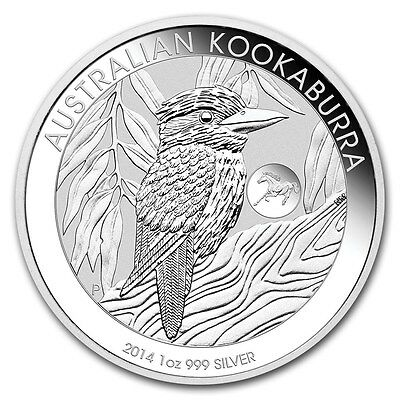 2014 1 oz Silver Australian Kookaburra Coin Lunar Horse Privy - From Mint Sealed