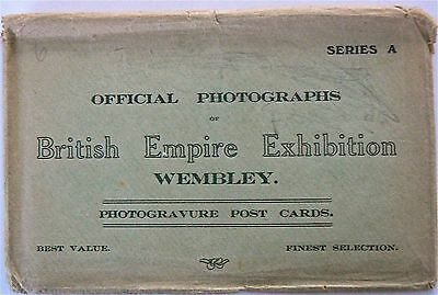 Postcards.british Empire Exhibition .set Of 6 Cards With Original Envelope.