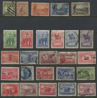 Australia 1927 - 1940 Used Collection - Jubilee, Macarthur, Aborigine CV $251