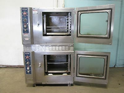 """alto-Shaam 7.14Mlgs"" Commercial Hd Natural Gas Double Stacked Combitherm Ovens"