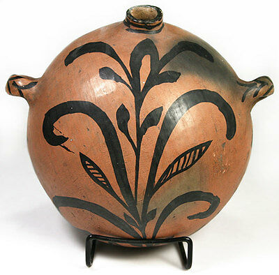 """LOWERED PRICE: Tesuque Pottery Canteen, circa 1900, 10"""" x 6.5"""""""