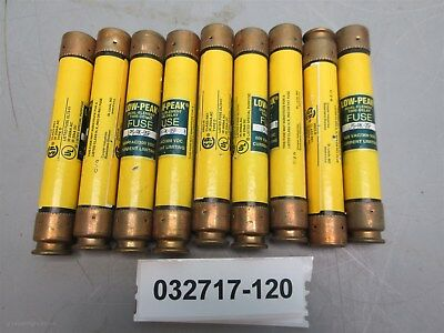 Lot of 9, Bussmann LPS-RK-9SP 9A 600V Fuses Class RK1