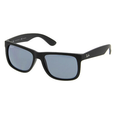 Ray-Ban RB4165 55mm Justin Wayfarer - Black Frame / Blue Polarized Classic Lens