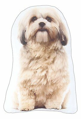 "Shih Tzu Throw Pillow New Puppy 15.5"" High Dog 100% Polyester"