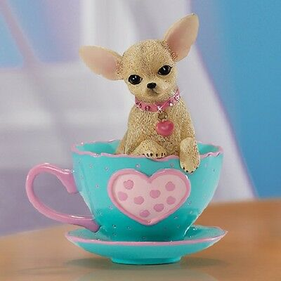Just My Cup of Tea Cherished Chihuahua  Dog Figurine Bradford Exchange